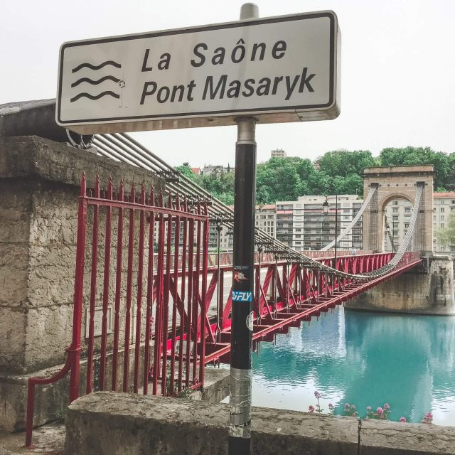 Masarykův most v Lyonu, Francie - Andyho Cestopisy